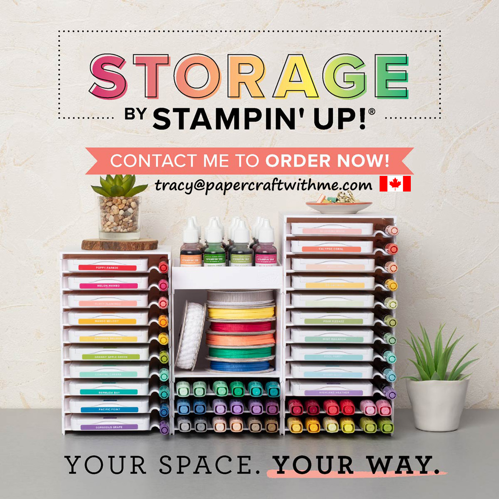 New modular storage from Stampin' Up! holds new style ink pads, ink refills, markers, Stampin' Blends and so much more.