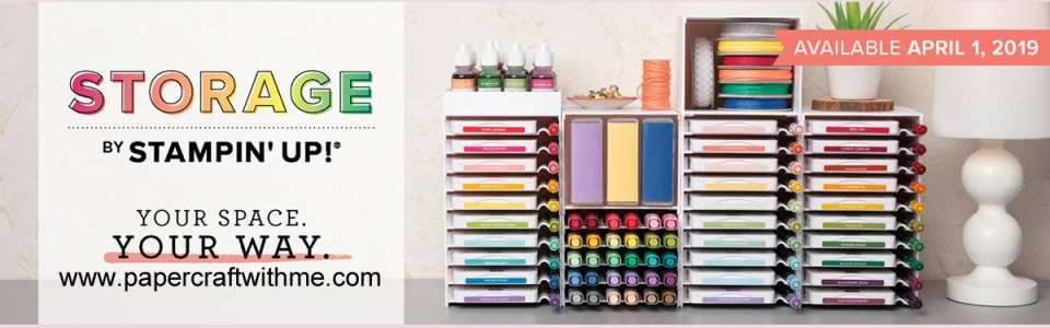Modular storage system from Stampin' Up! holds new style ink pads, markers, Stampin' Blends, ink refills and so much more. #storagebystampinup