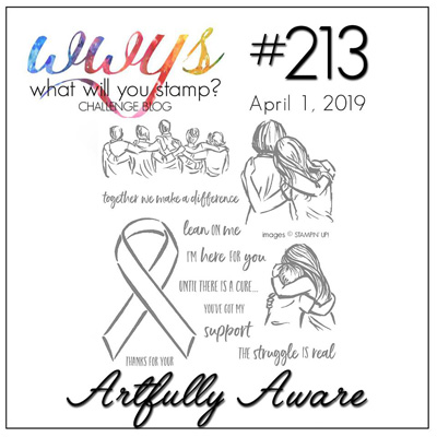 Logo for the What Will You Stamp? Challenge WWYS213 Artfully Aware (April 1-6, 2019)