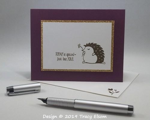 1741 Golden Hedgehog Card
