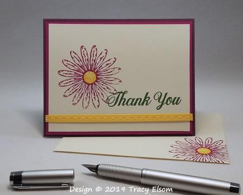 1743 Gerbera Thank You Card