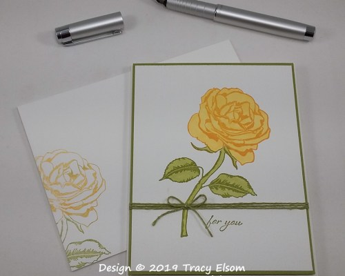 1746 For You Rose Card