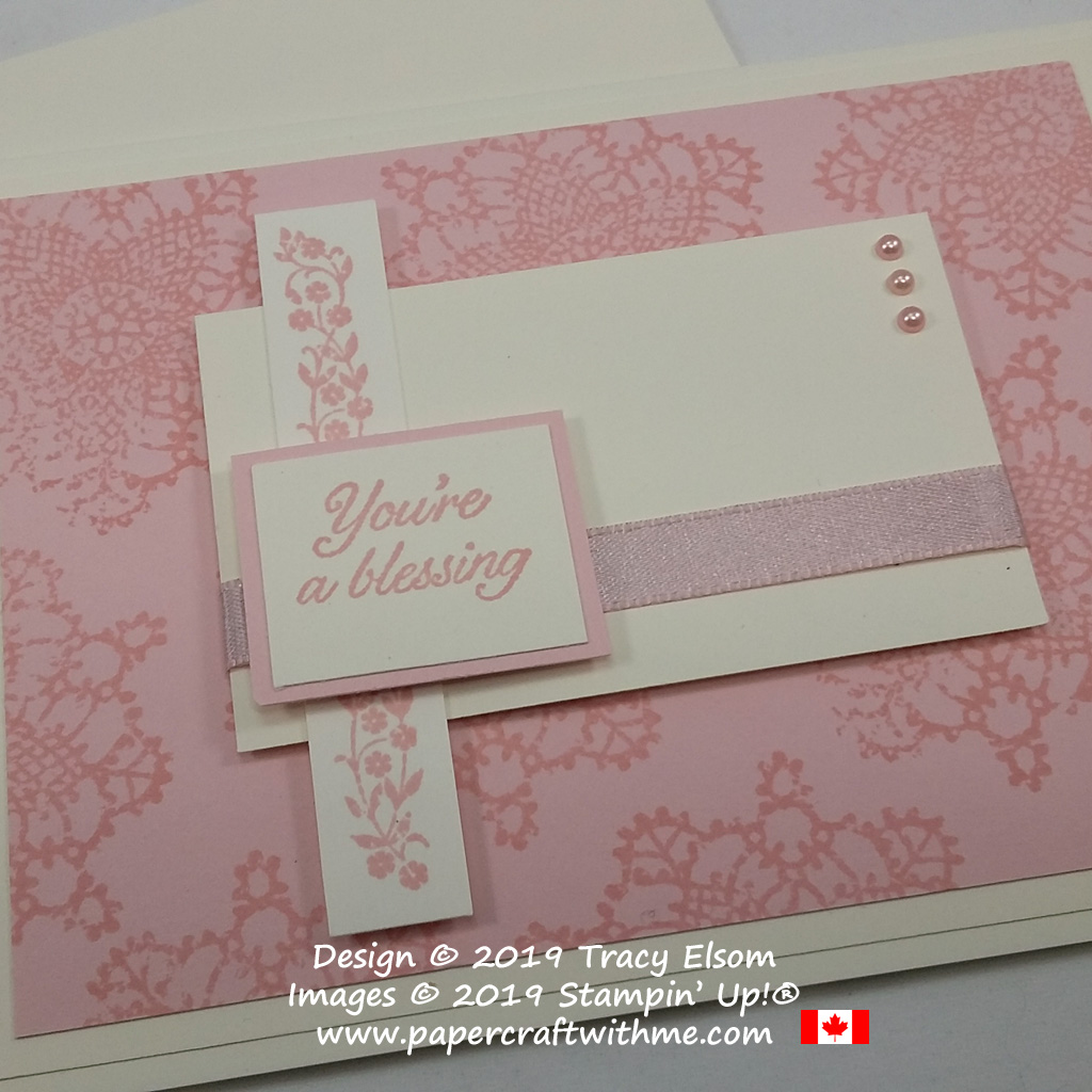 Close up of simple card created using the Very Vintage (Host) Stamp Set from Stampin' Up!