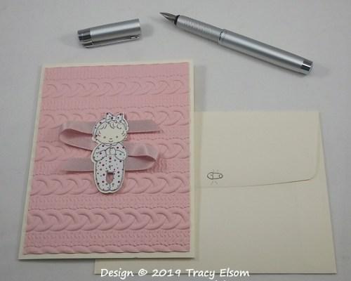 1759 Pink Ribbon Baby Card