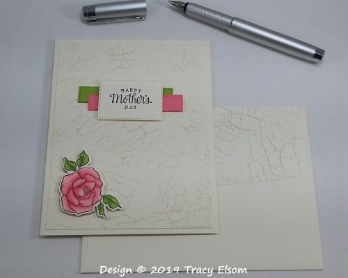 1717 Pink Rose Mother's Day Card