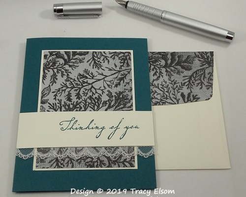 1756 Vintage Thinking of You Card