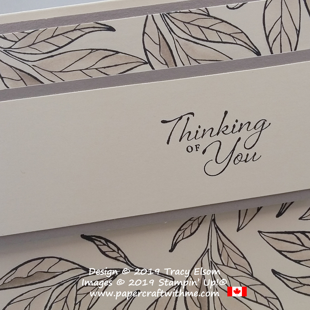 Close up of simple thinking of you card created using the Wonderful Romance Stamp Set and Gray Granite ink from Stampin' Up!