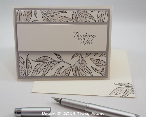1761 Leafy Thinking of You Card