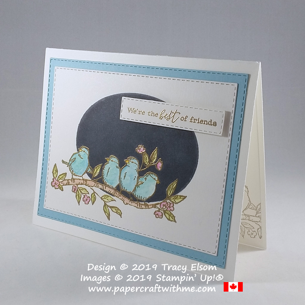 Side view of friends card created using the Free As A Bird Stamp Set from Stampin' Up!