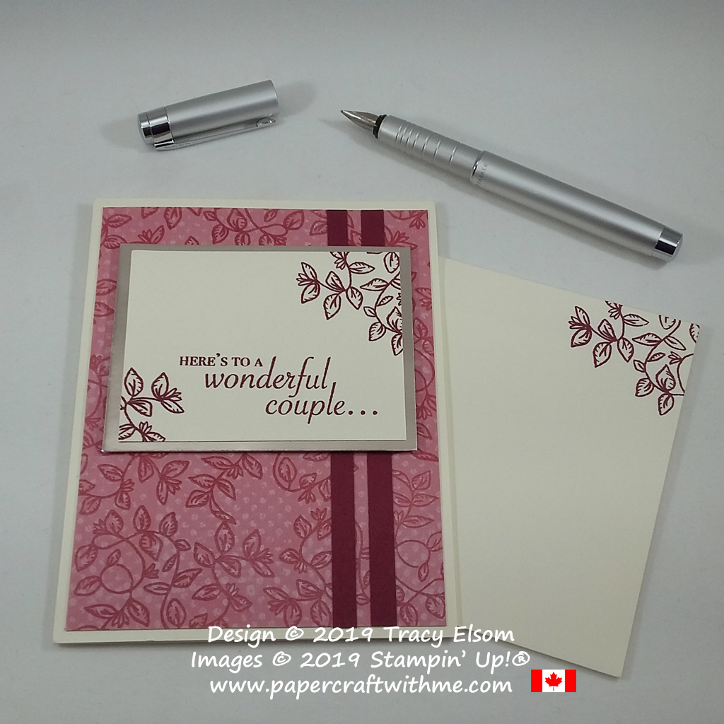 Wonderful couple wedding / anniversary card created using the Verdant Garden Stamp Set from Stampin' Up!