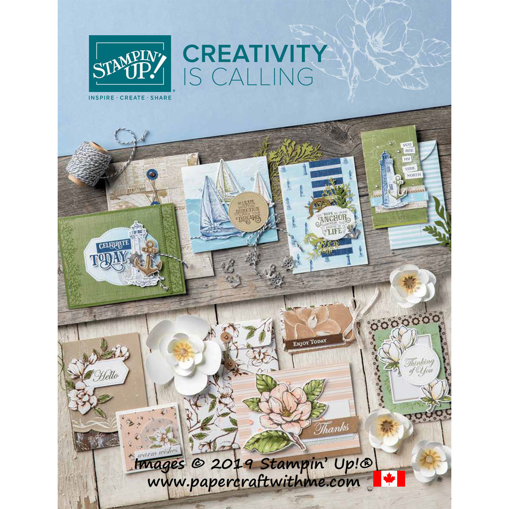 Front cover of the Stampin' Up! 2019/2020 Annual Catalogue that goes live on June 4th, 2019.