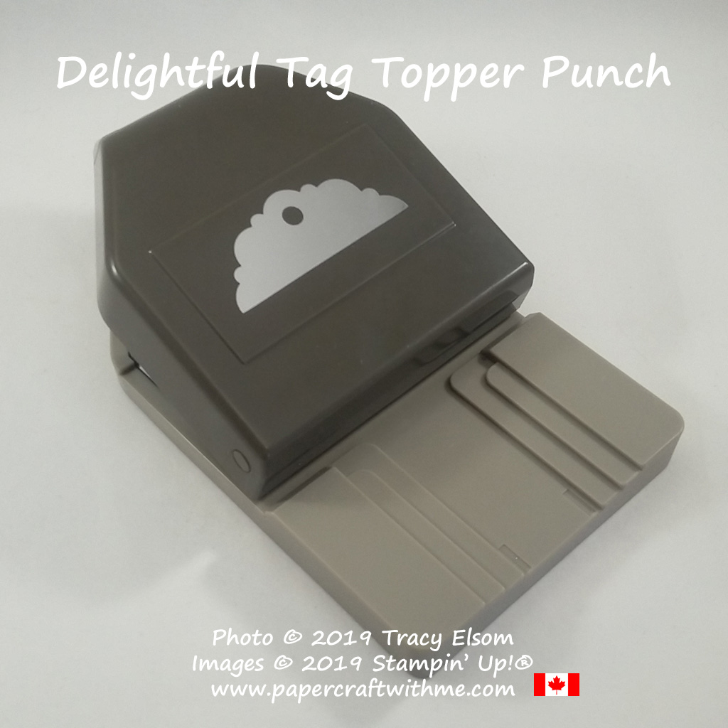 "The Delightful Tag Topper Punch from Stampin' Up! punches strips 1"", 1-1/2"" and 2"" wide."