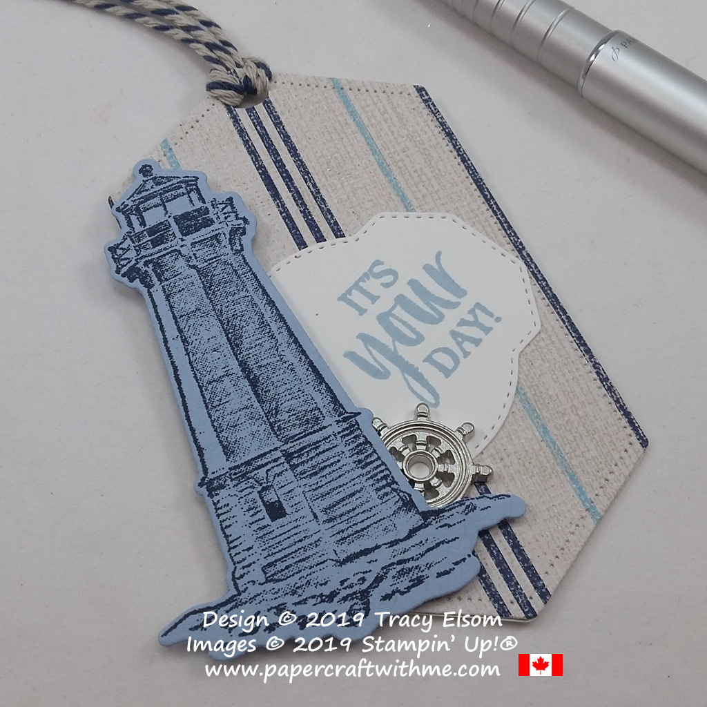 Close up of the lighthouse image from the Sailing Home Stamp Set from Stampin' Up!