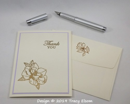 1786 Magnolia Thank You Card
