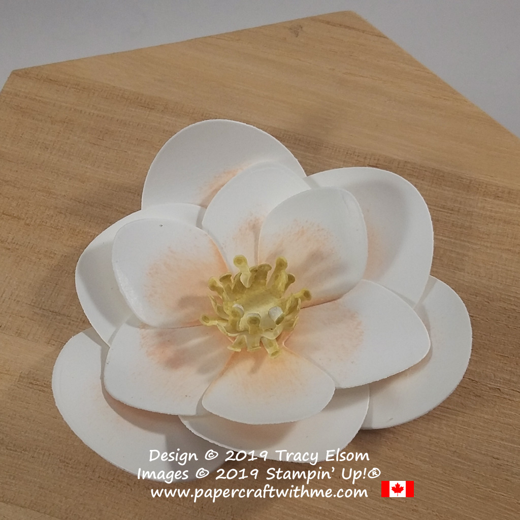 Magnolia bloom created using the Magnolia Memory Dies from Stampin' Up!