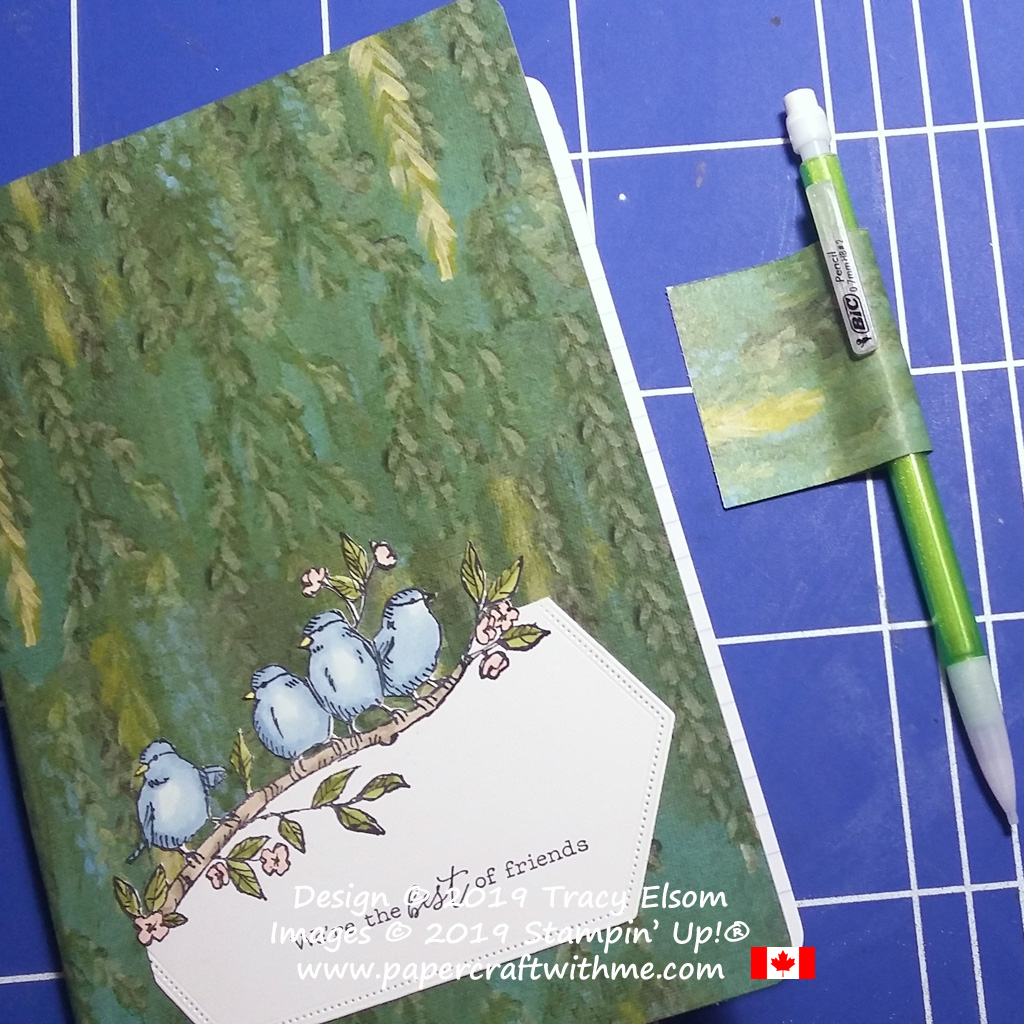 Creating a simple pencil loop to add to a decorated notebook