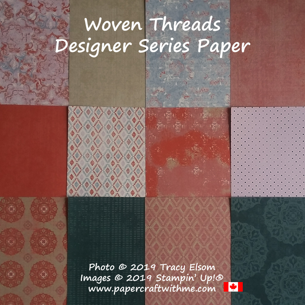Woven Threads Designer Series Paper from Stampin' Up!