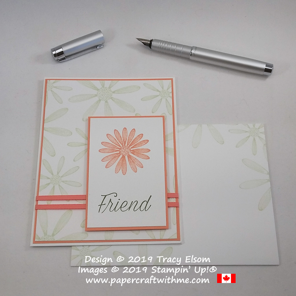 Simple stamped friend card using the Daisy Lane Stamp Set from Stampin' Up!