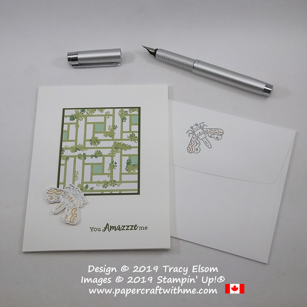 """""""You amazzze me"""" card with gold and silver embossed fly image from the Wiggle Worm Stamp Set from Stampin' Up!"""