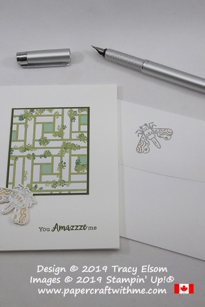 """You amazzze me"" card with gold and silver embossed fly image from the Wiggle Worm Stamp Set from Stampin' Up!"