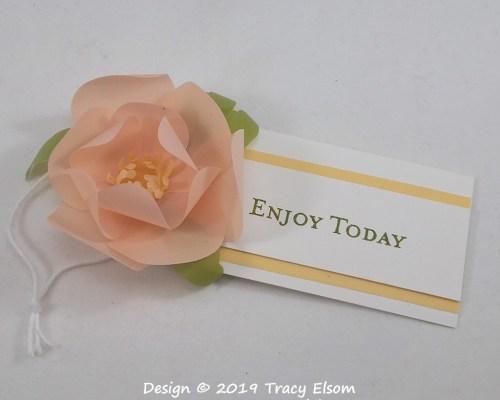 Vellum Magnolia Gift Tag