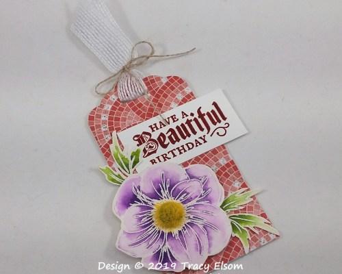 Floral Birthday Tag