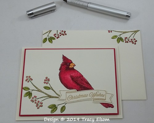 1822 Cardinal Christmas Wishes Card