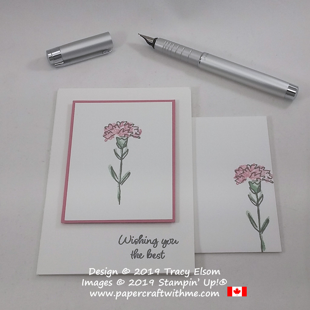 """#simplestamping card with """"Wishing you the best"""" sentiment and carnation image from the Inspiring Iris Stamp Set by Stampin' Up!"""