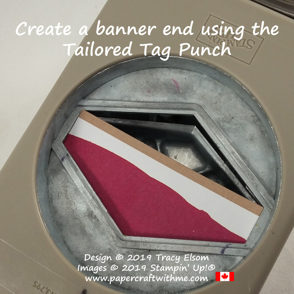 How to create a banner end using the Tailored Tag Punch from Stampin' Up! #papercraftwithme