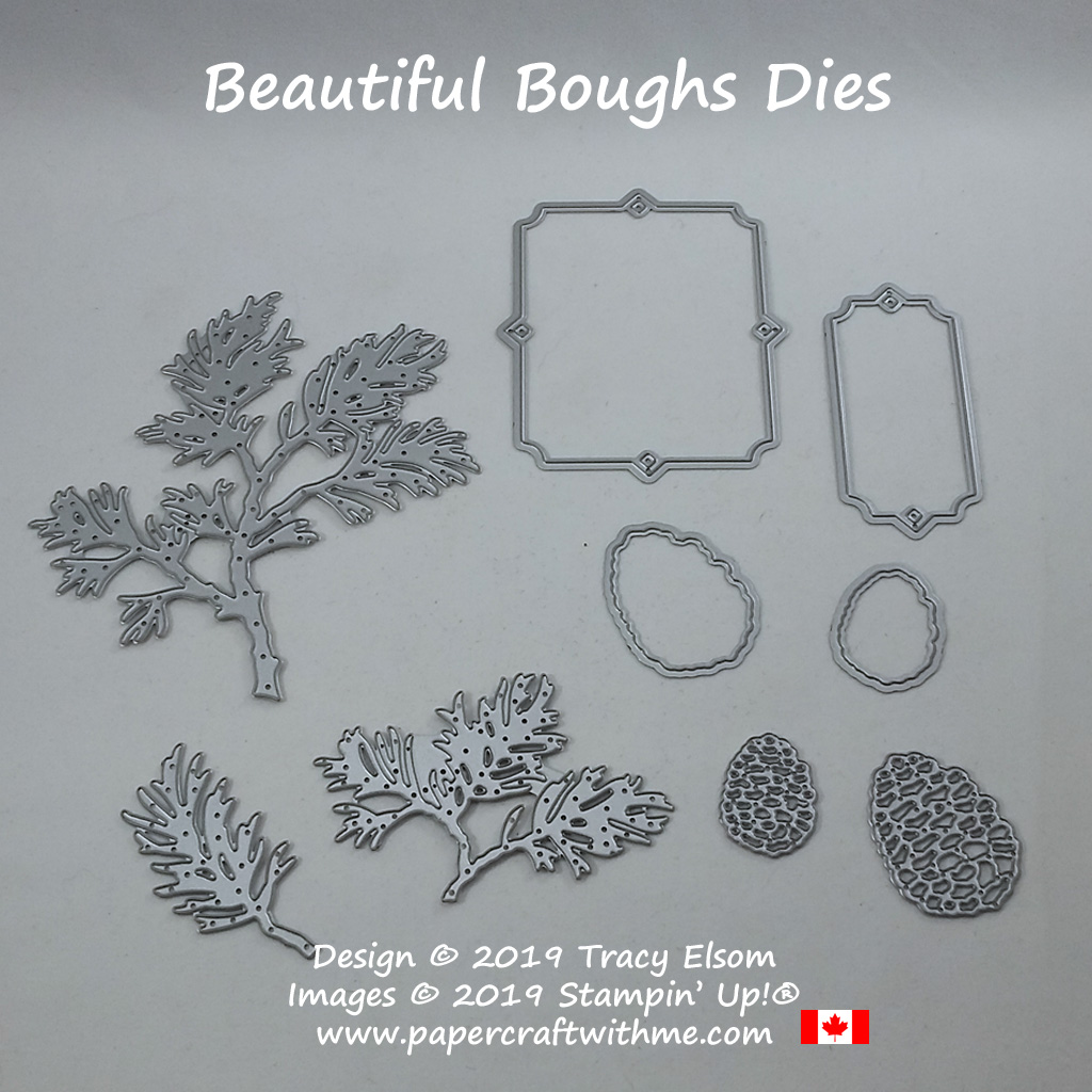 Beautiful Boughs Dies (coordinates with Peaceful Boughs Stamp Set) from Stampin' Up! #papercraftwithme