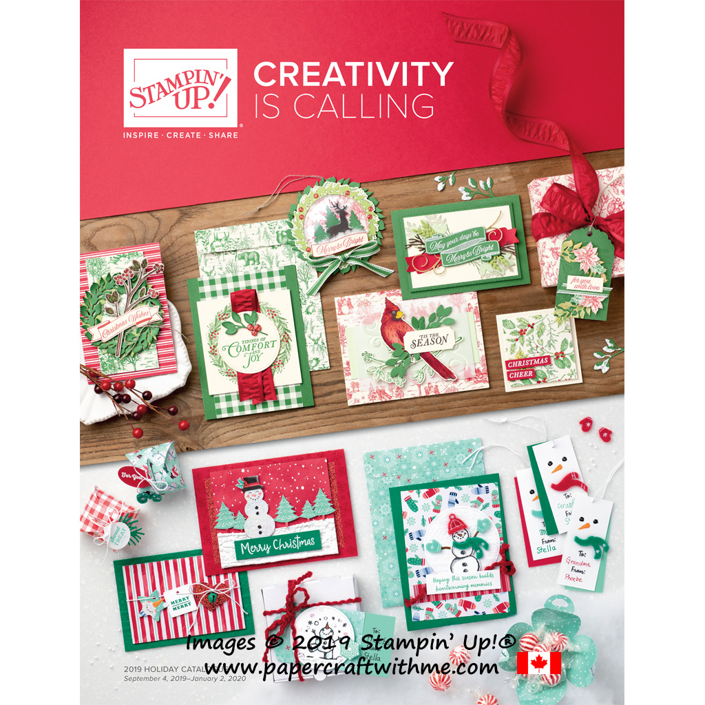 In Canada?  Shop the Stampin' Up! 2019 Holiday Catalogue via my online store.  Products available September 4th 2019. #papercraftwithme