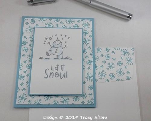 1824 Let It Snow Card