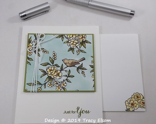 1839 Birds And Flowers Card