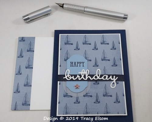 1843 Sailing Birthday Card