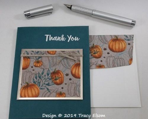 1845 Pumpkin Thank You Card