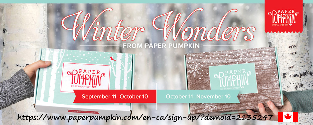 Winter Wonders - Two months of coordinating Paper Pumpkin kits for Christmas. In October's get everything you need to make 10 full-size cards, while November's kit will contain supplies for 24 gift tags in 4 sizes.