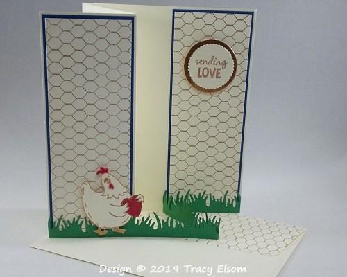1851 Chicken Love Card