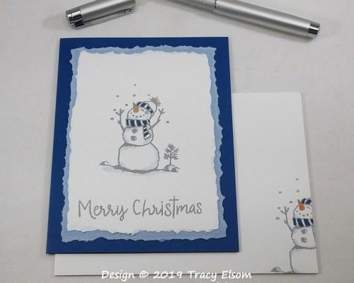 1855 Happy Snowman Card