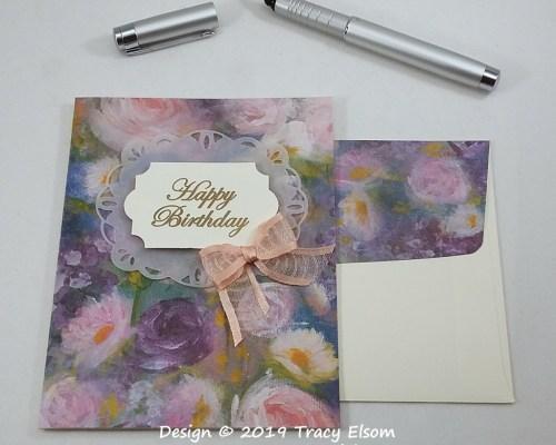 1857 Monet Floral Birthday Card