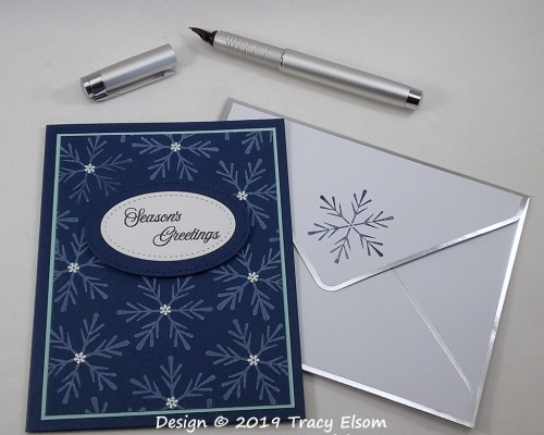 1877 Stunning Snowflakes Card