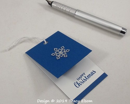 Simple Folded Christmas Gift Tag