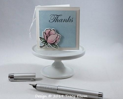 Magnolia Thanks Folded Tag