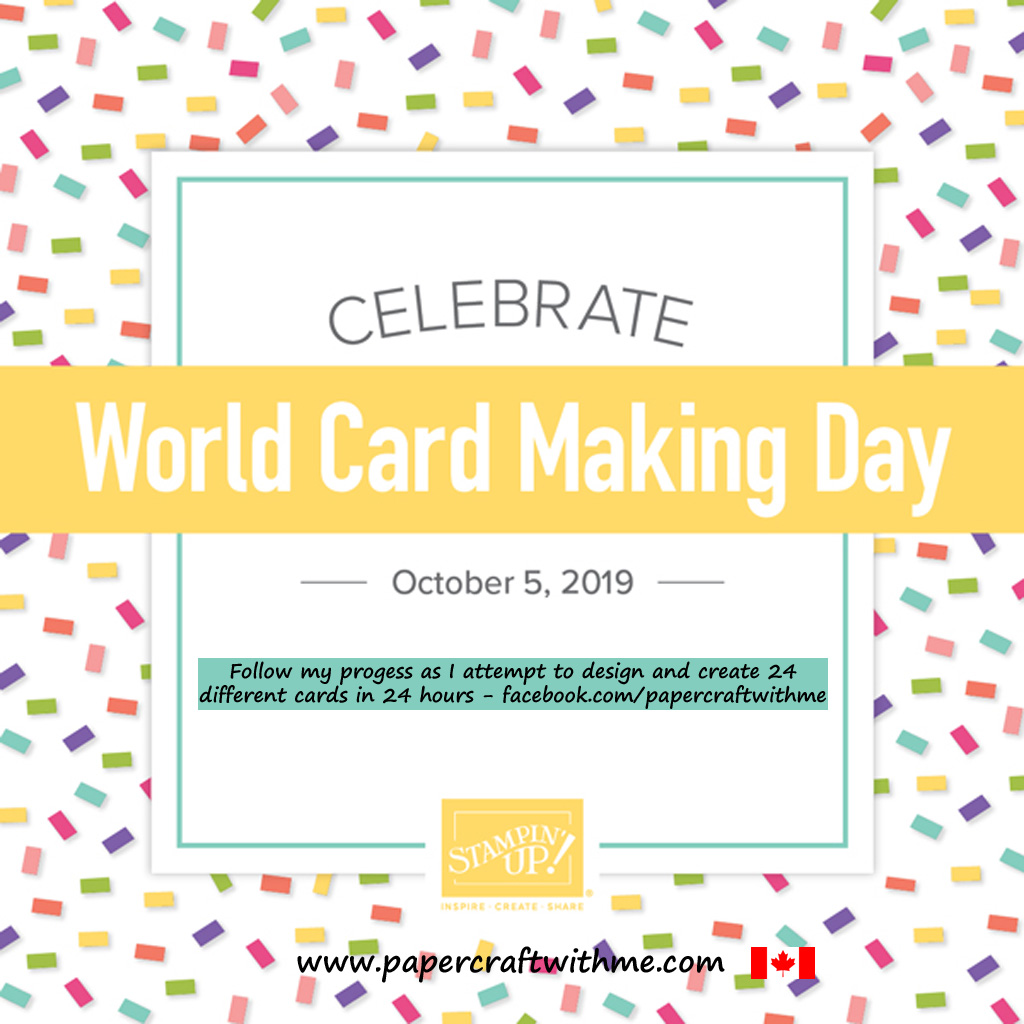 Follow me on Facebook as I mark World Card Making Day 2019 by attempting to design and make from scratch 24 different cards in 24 hours. #papercraftwithme