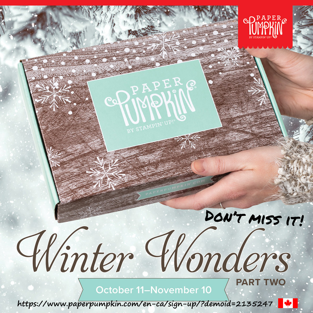In Canada? Subscribe to Paper Pumpkin by November 10th to get the Winter Wonders craft kit containing everything you need to make 24 large Christmas gift tags. No long term commitment. #papercraftwithme