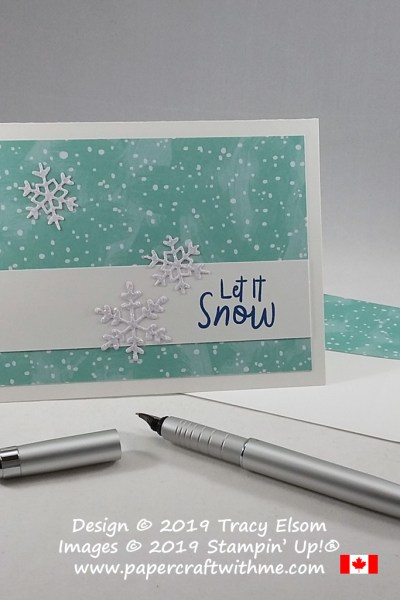 "Simple ""Let it Snow"" card created using the Snowman Season Stamp Set and Seasonal Layers Dies from Stampin' Up! #papercraftwithme"
