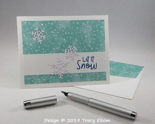 1870 Let It Snow Card
