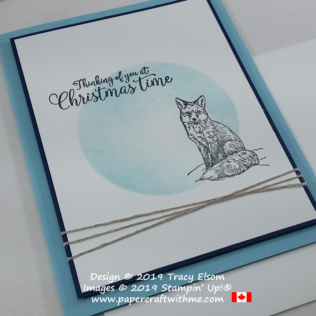 """Thinking of you at Christmastime"" for Diabetes Awareness Day created using the Nature's Beauty and Greatest Part of Christmas Stamp Sets from Stampin' Up! #papercraftwithme"