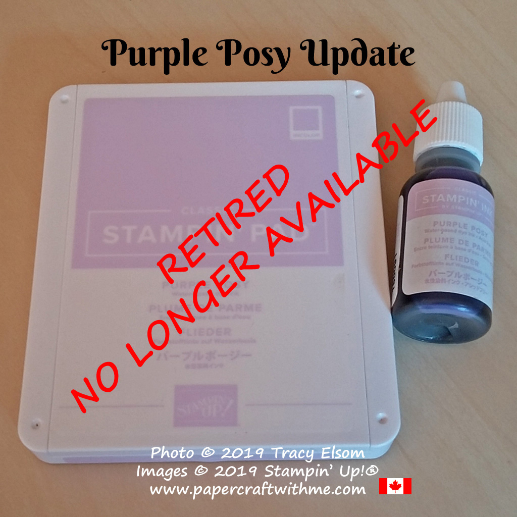 Purple Posy Classic ink pads and refills from Stampin' Up! are no longer available #papercraftwithme