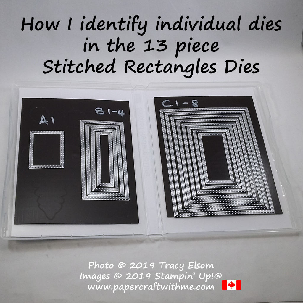 Stitched Rectangles Dies from Stampin' Up! #papercraftwithme