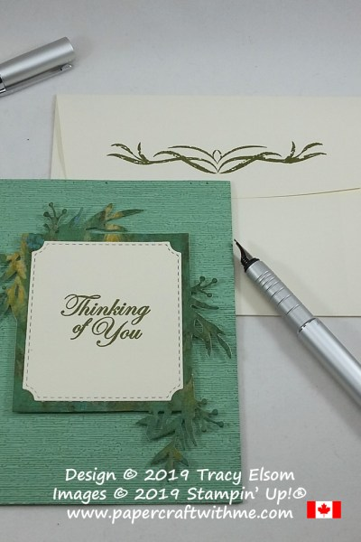 "Masculine / gender neutral ""Thinking of You"" card created using the Frosted Frames Dies, Good Morning Magnolia Stamp Set and Subtle 3D Embossing Folder, all from Stampin' Up! #papercraftwithme"